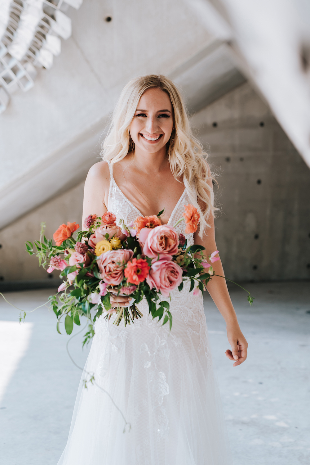 Coral and Orange Wedding Flowers - Winnipeg Wedding Florist