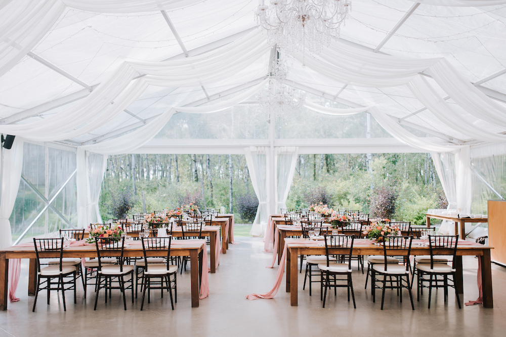 Clear Top Tent Weddings - Cielo's Garden Weddings