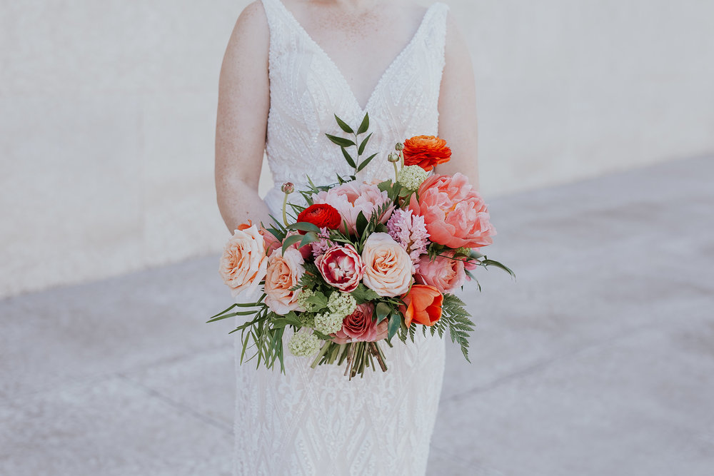 Vibrant Spring Wedding Bouquet - Stone House Creative