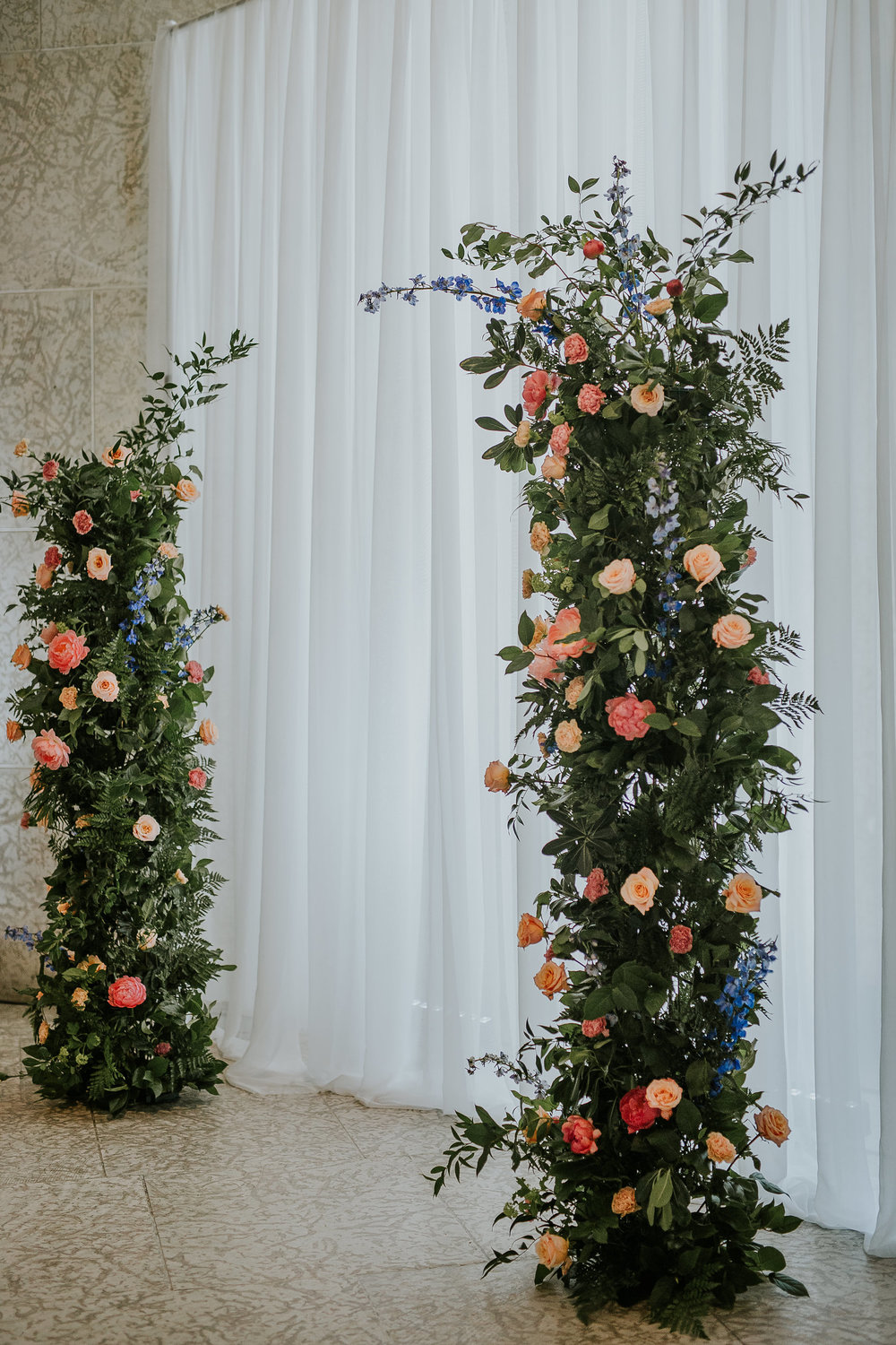Organic Inspired Wedding Ceremony Arch - Indoor Wedding in Winnipeg