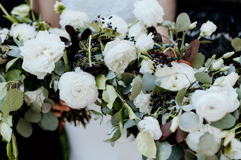 WHite Ranunculus Wedding Bouquet - Winnipeg Wedding Flowers