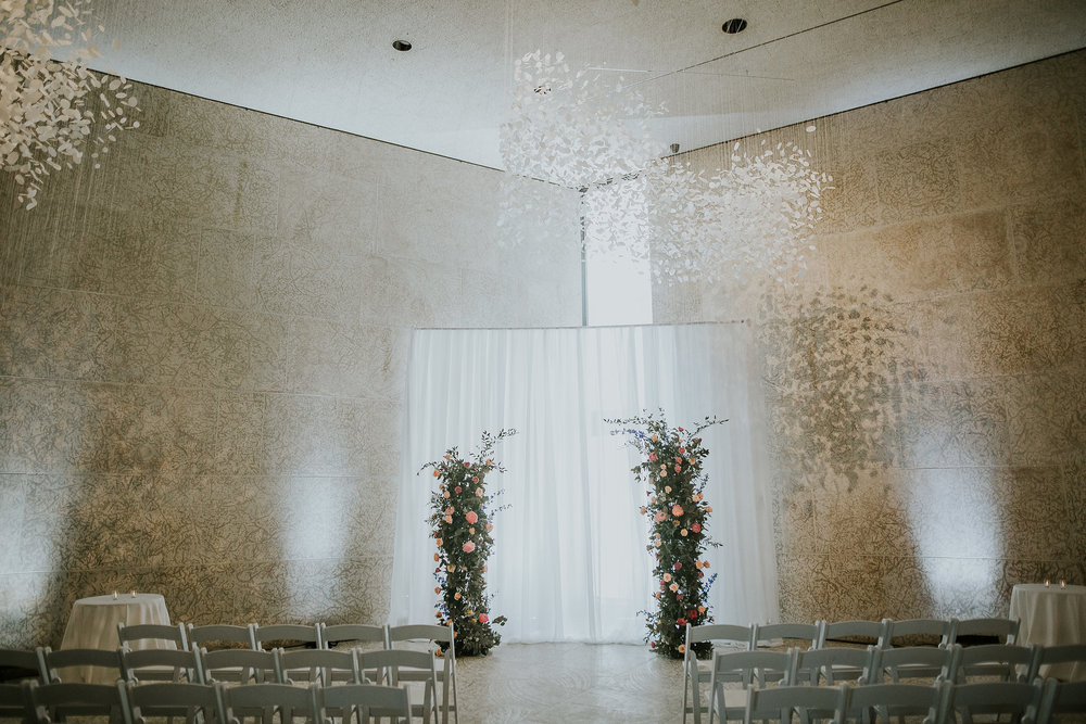 Deconstructed Wedding Ceremony Arch by Stone House Creative - Wedding Florists in Winnipeg