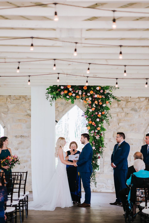 Asymmetrical Wedding Ceremony Flower Arch - Wedding Flowers Winnipeg