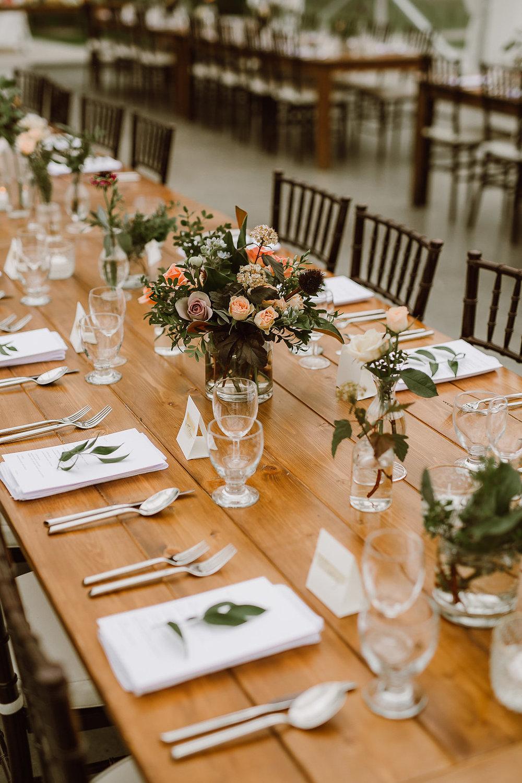 Eclectic Floral Centrepieces - Winnipeg Wedding Florist