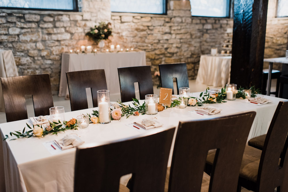 Floral Garland Wedding Centrepiece - Winnipeg's top Wedding Florists