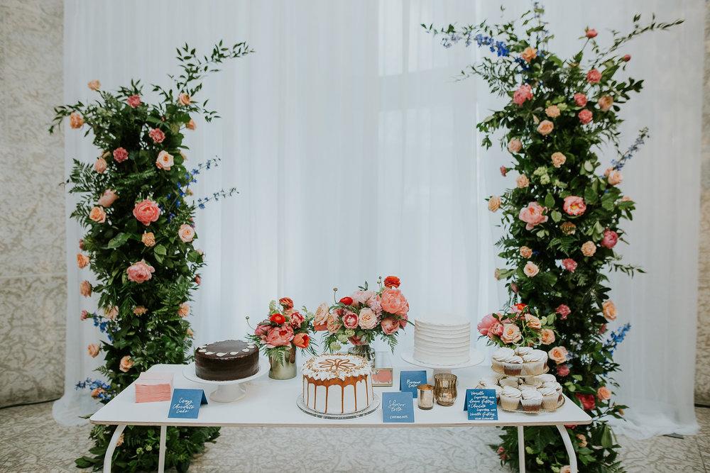 Incredible Floral and Wedding Cake Display - Wedding Florists in Winnipeg