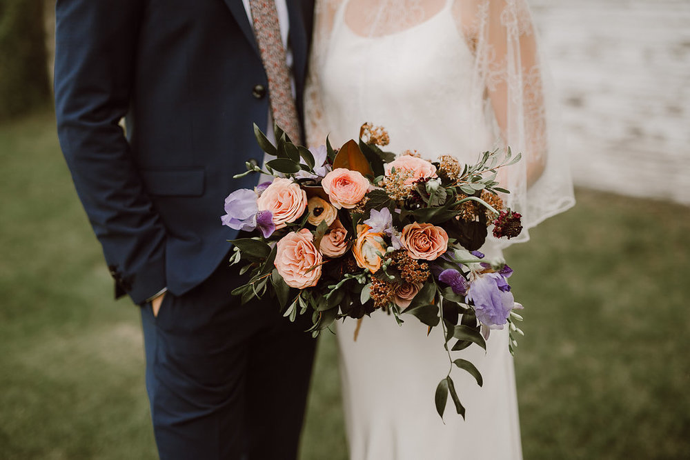 Garden-Inspired Mauve Bridal Bouquet - Wedding Flowers Winnipeg