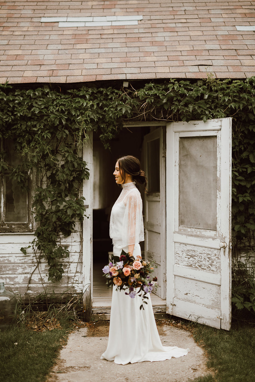 Stylish, Organic Wedding at Cielo's Garden - Winnipeg's Best Wedding Florist