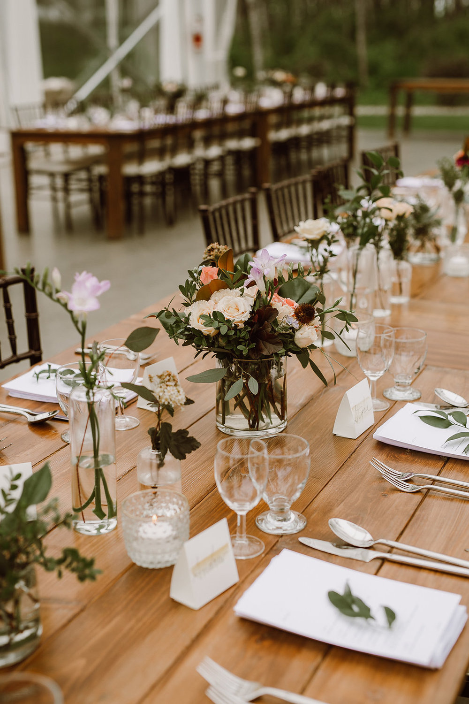 Eclectic Wedding Centrepieces - Wedding Flowers Winnipeg