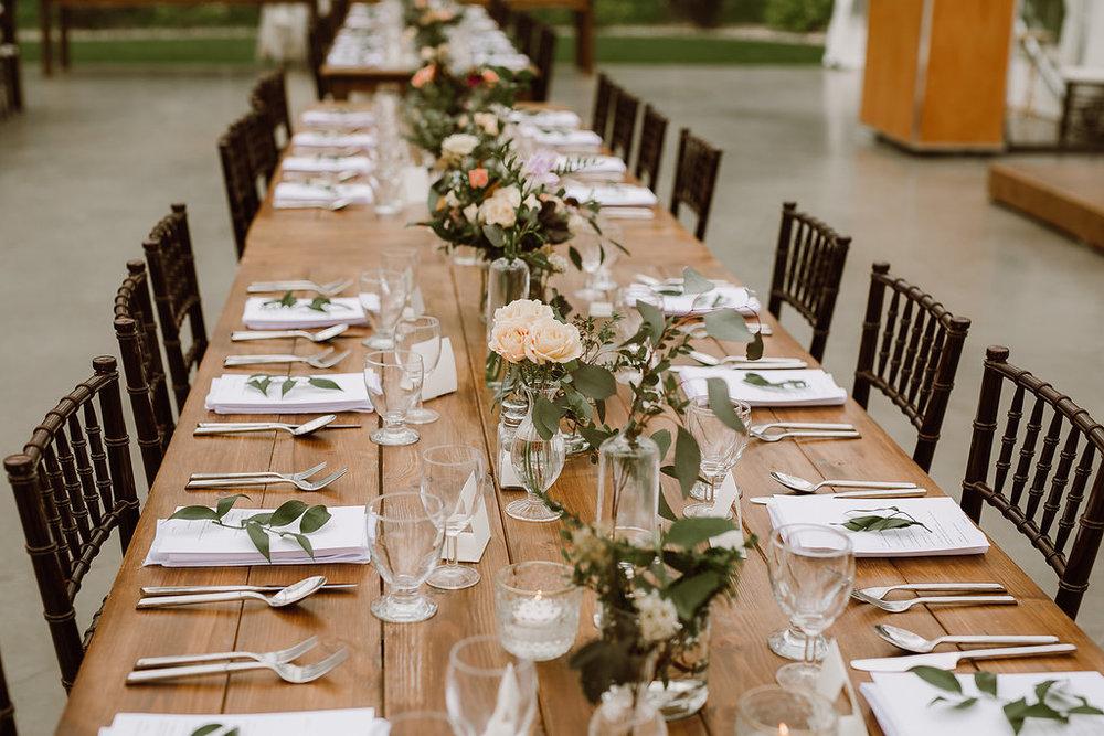 Garden Inspired Wedding Tablescape - Wedding Flowers in Winnipeg