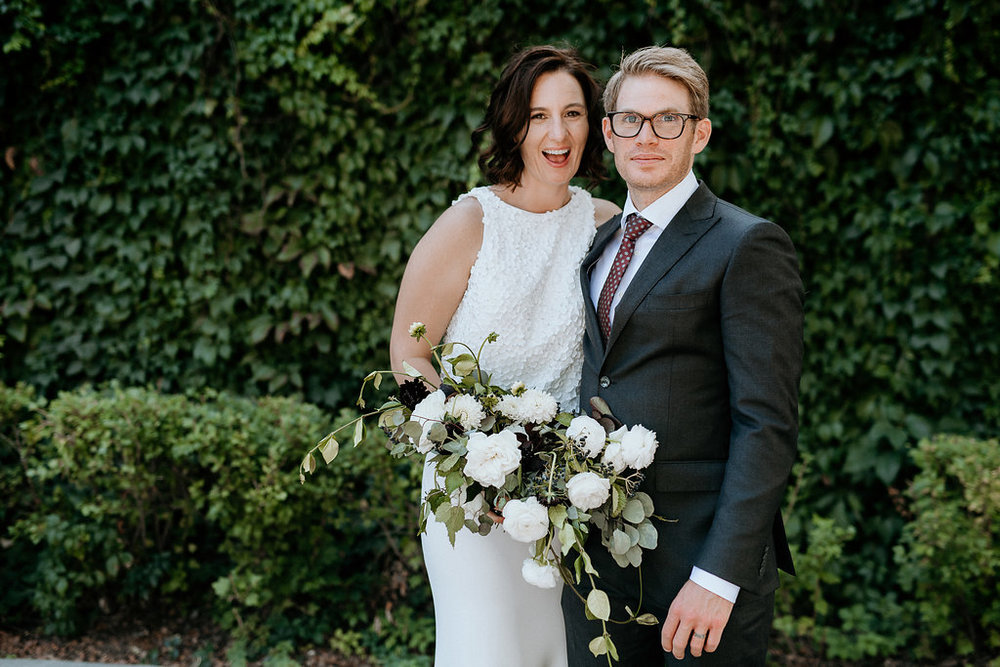 White and Black Wedding Flowers - Stone House Creative