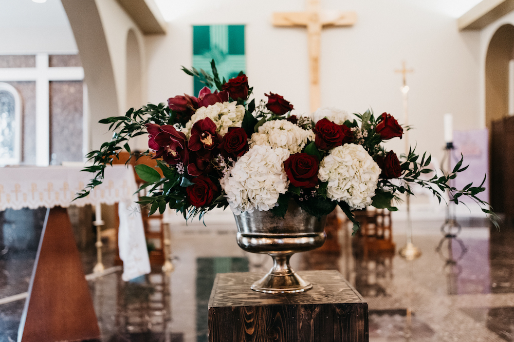 Burgundy Wedding Flower Ideas - Wedding Ceremony Flowers in Winnipeg