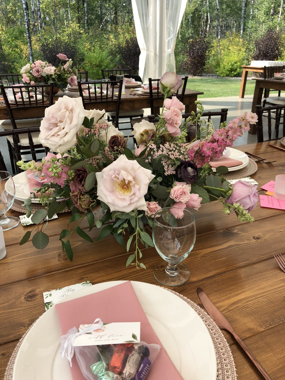 Garden-Inspired Wedding Centrepieces - Stone House Creative