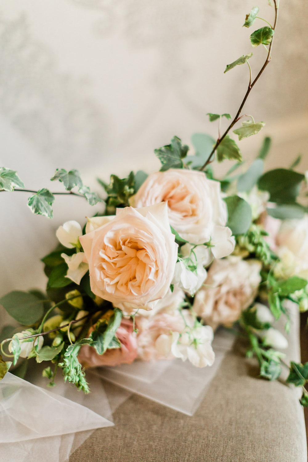 Blush Garden Rose Wedding Bouquet - Classic WEdding in Winnipeg