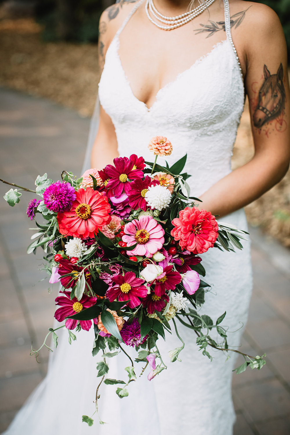 Vibrant Summer Wedding Bouquet - Stone House Creative