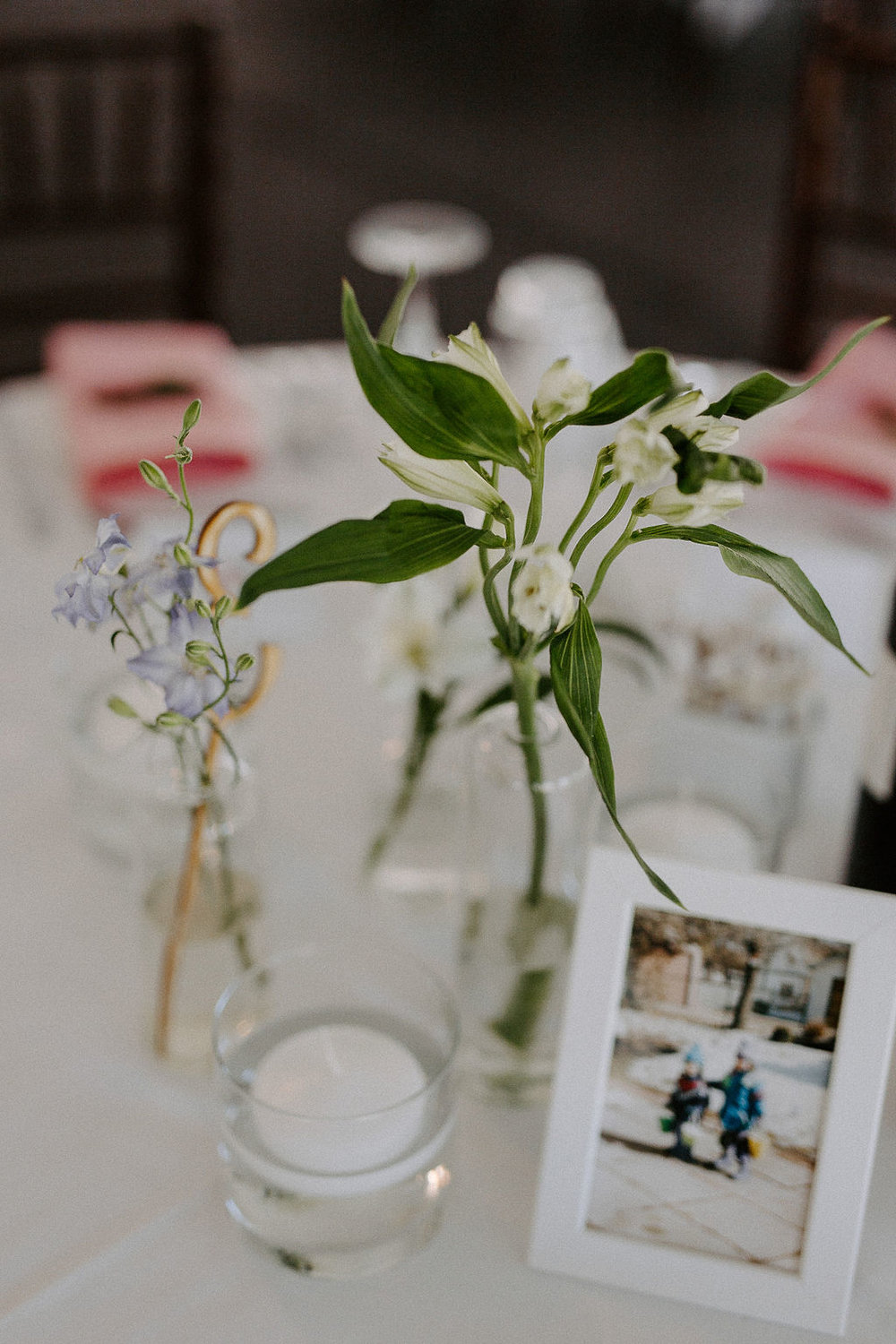 Stem Vase Wedding Centrepieces - Budget Friendly Wedding Flowers