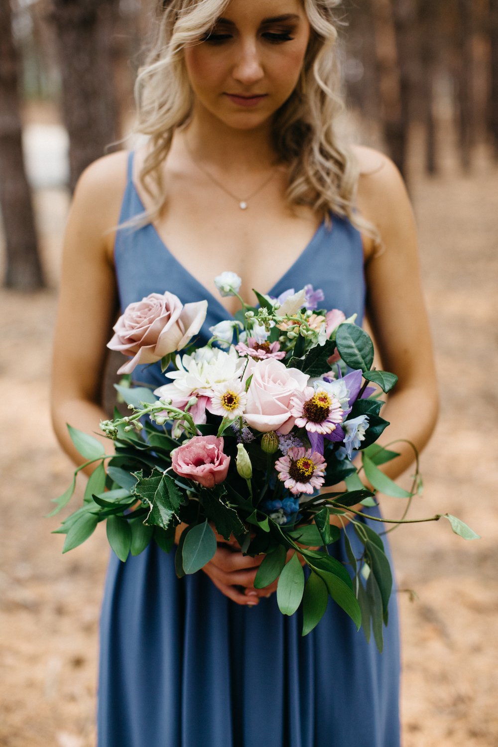 Muted Blue and Mauve Wedding Flowers - Winnipeg Wedding Florists
