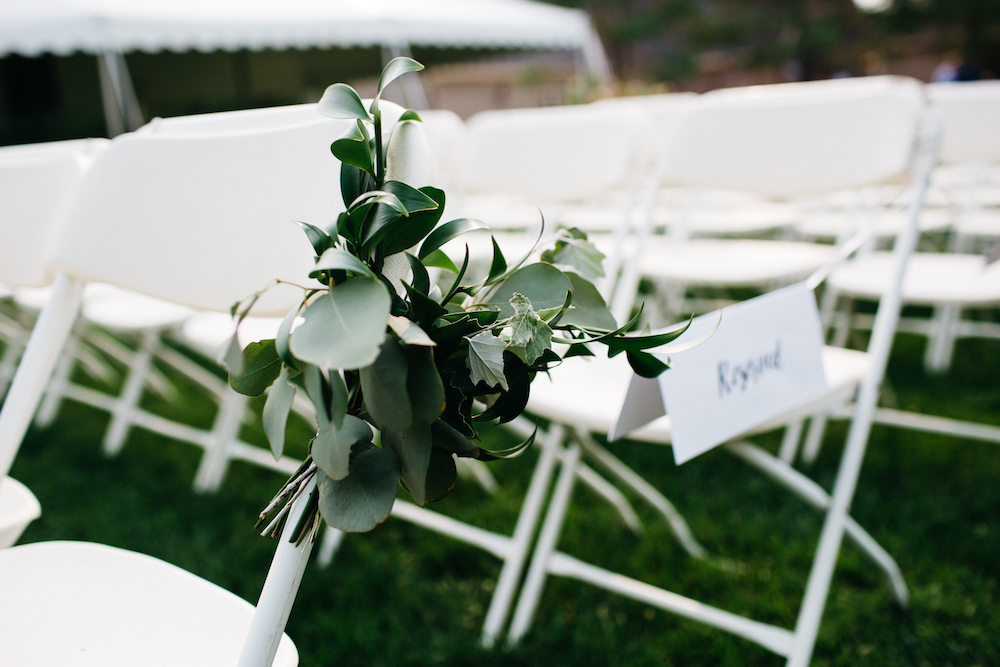 Greenery Aisle Bouquets for Garden Wedding - Wedding Flowers Winnipeg