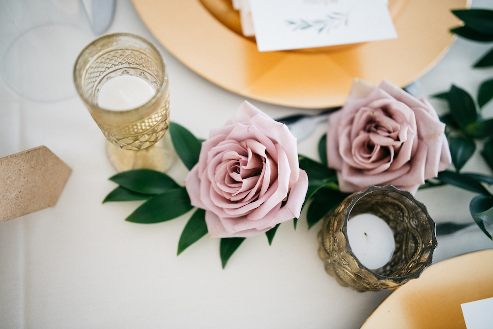 Blush and Mauve Wedding Flowers - Wedding Centrepieces Ideas