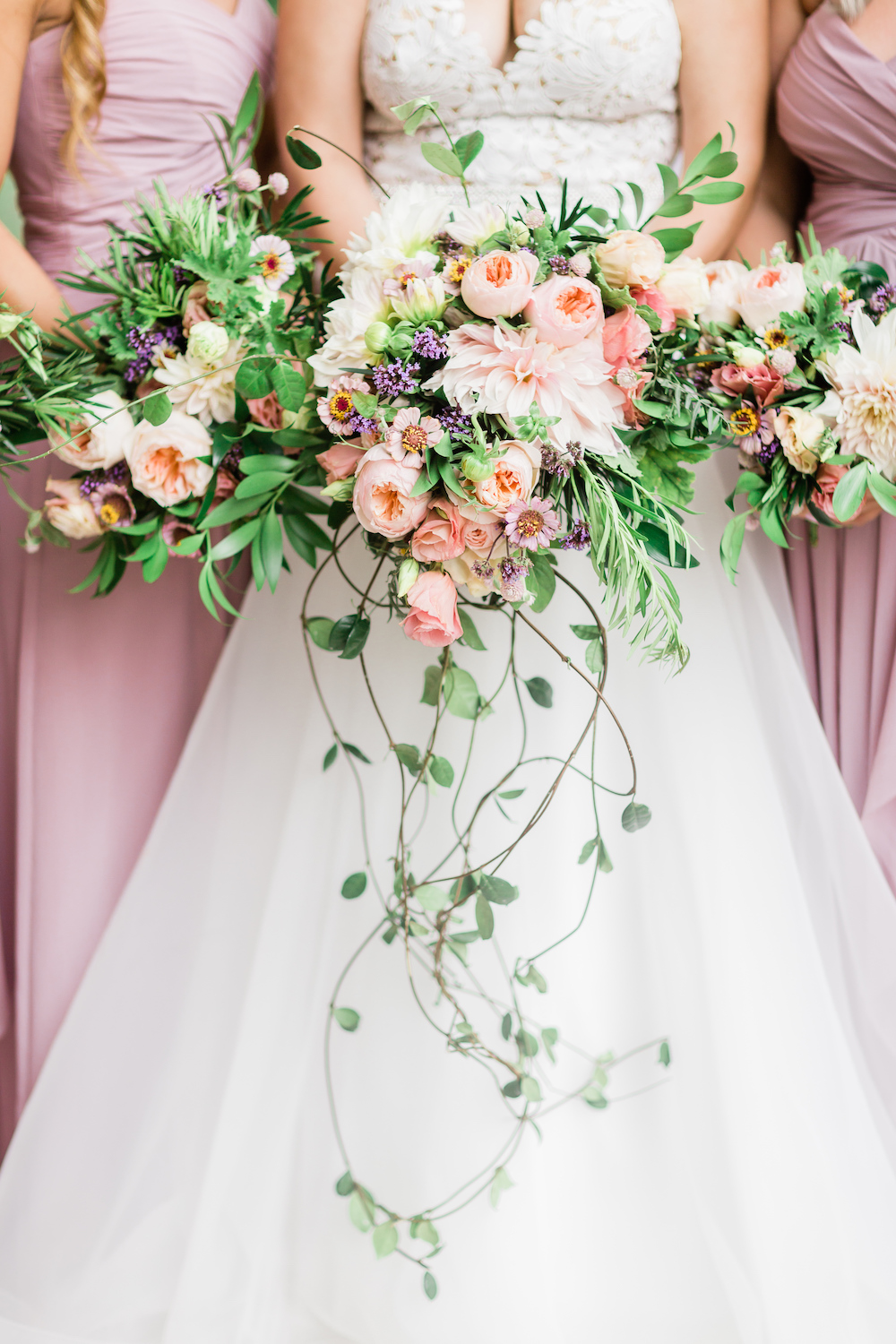 Peach and Lavender Wedding Flowers - Wedding Flowers Winnipeg
