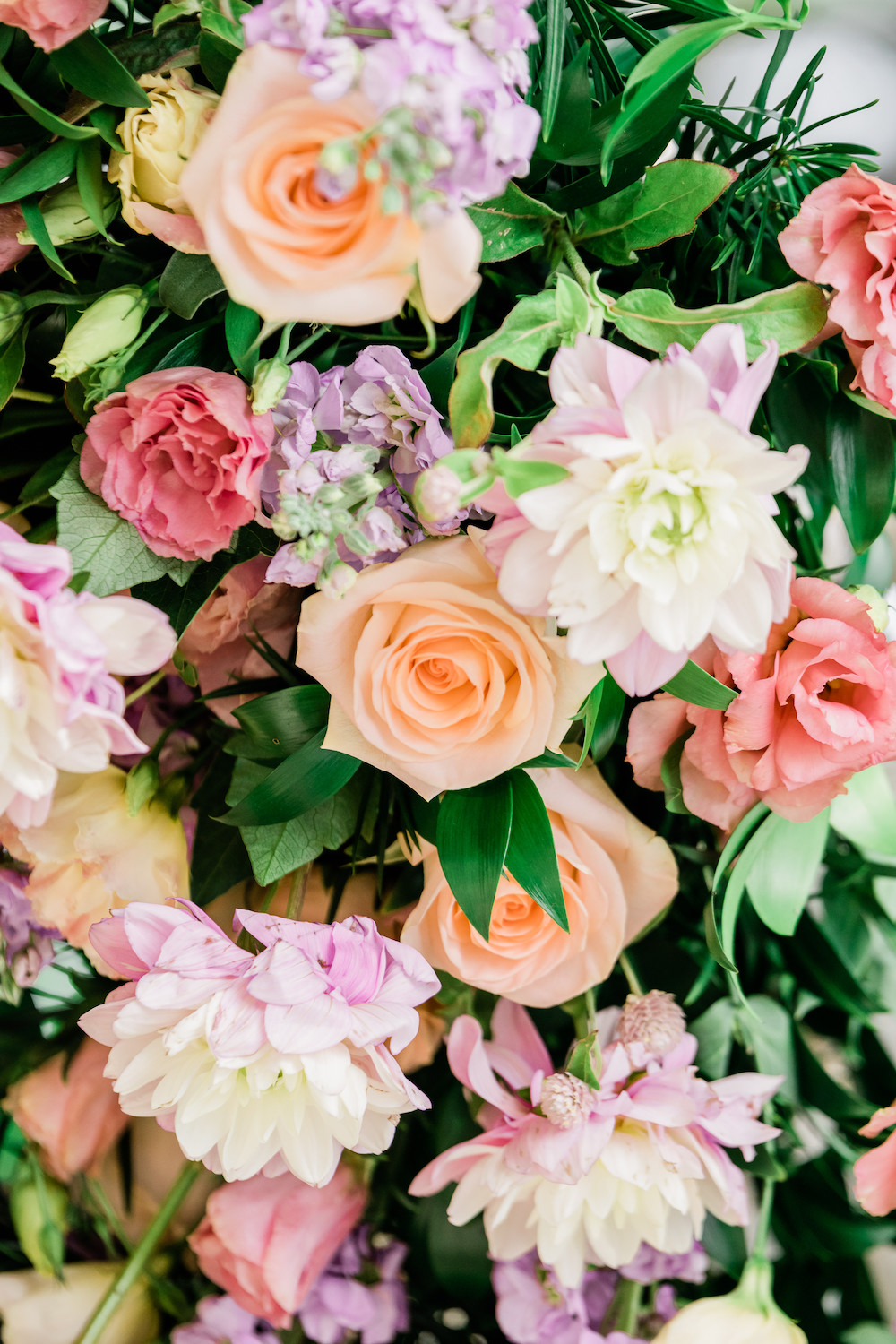 Peach and Lavender Wedding Flowers - Planning a Wedding in Winnipeg