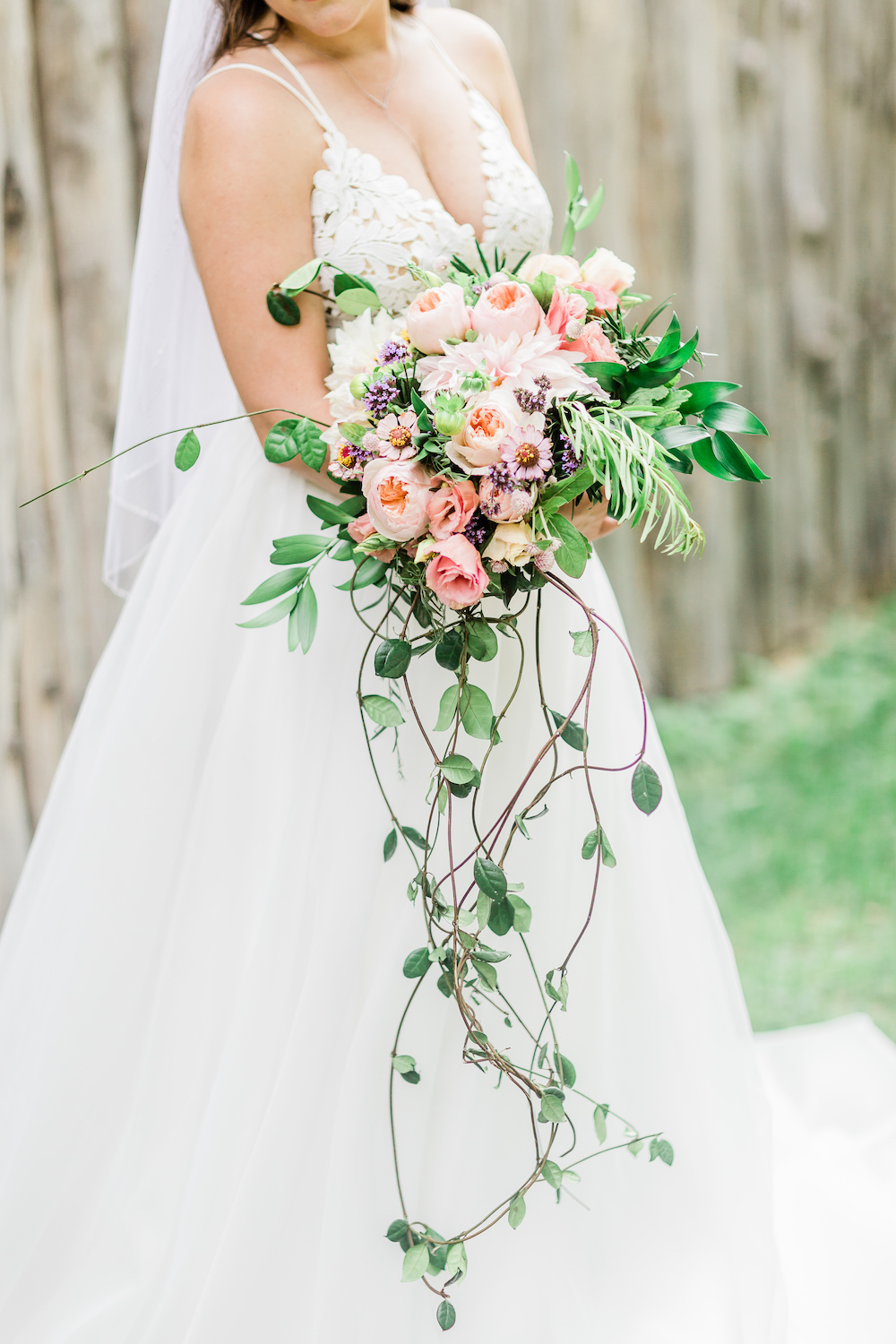 Organic Style Cascading Bouquet - Tips to Take Care of your Wedding Flowers