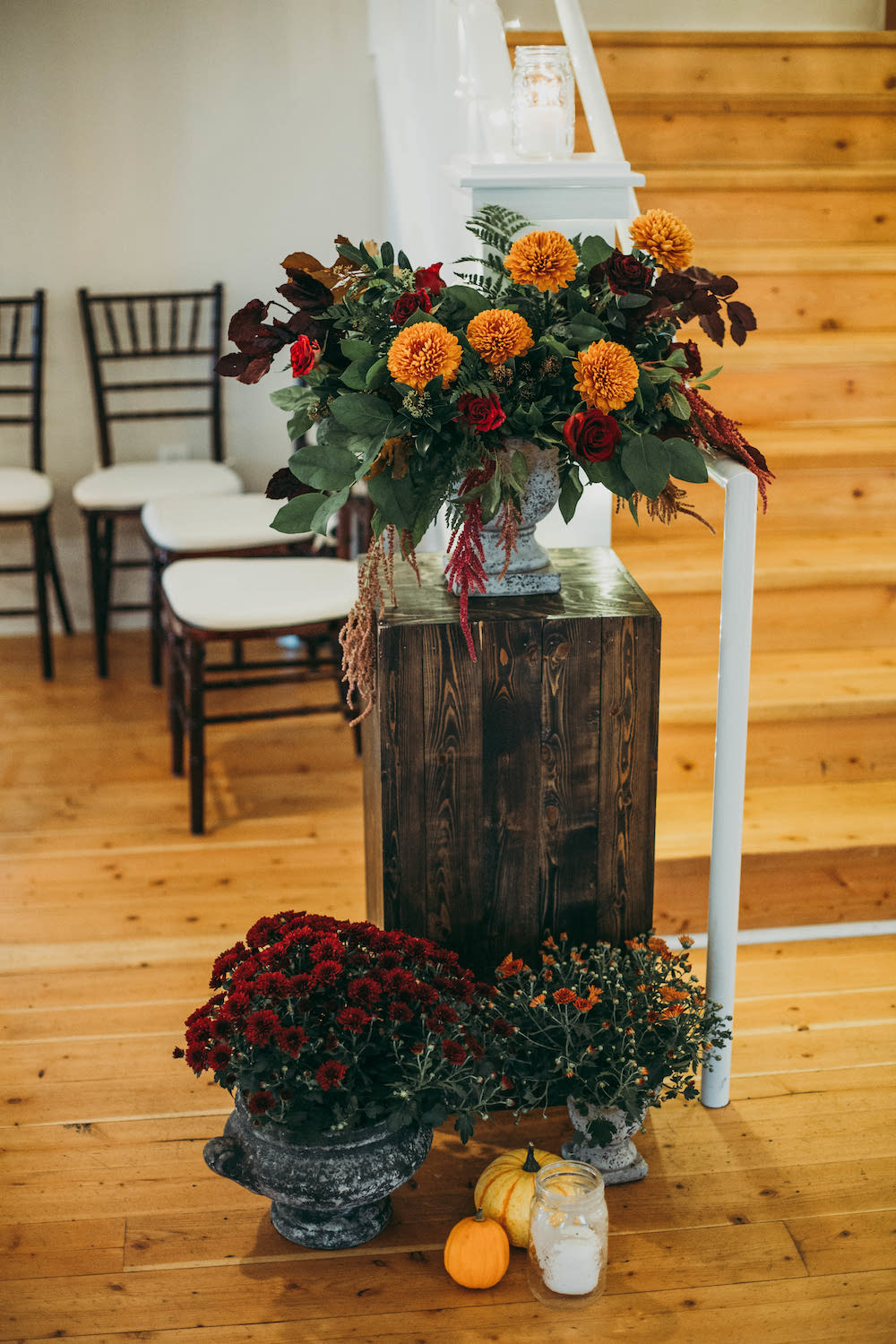 Rust and Burgundy Wedding Flowers - Winnipeg Wedding Florist