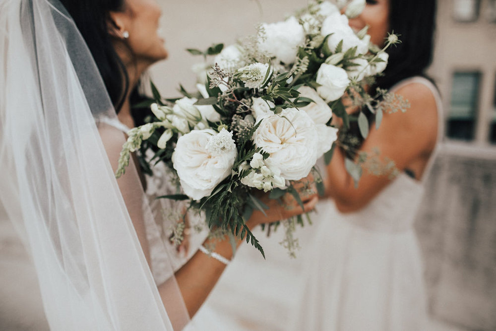 Organic White Wedding Bouquet - Wedding Flowers in Winnipeg