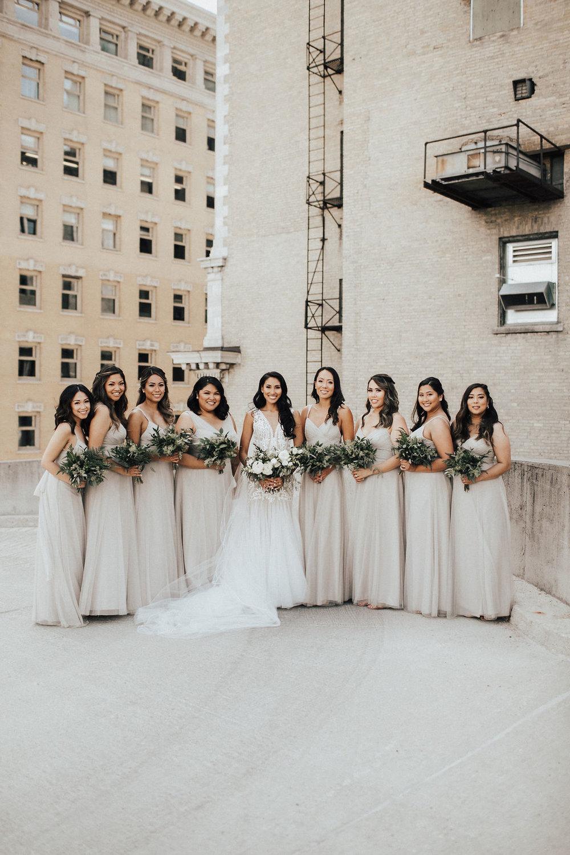 Greenery Bridesmaid Bouquets - Winnipeg Wedding Flowers