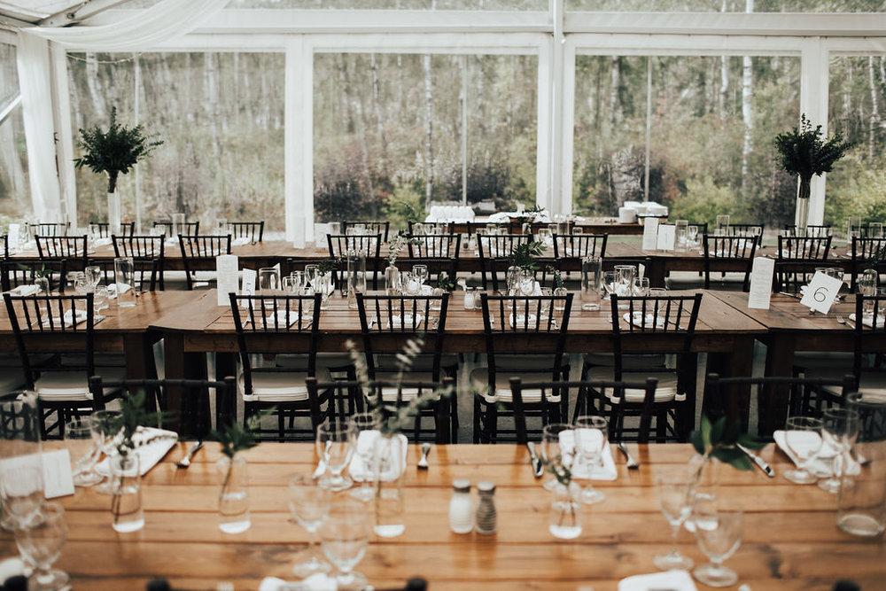 Minimalist Wedding Centrepieces - Stone House Creative