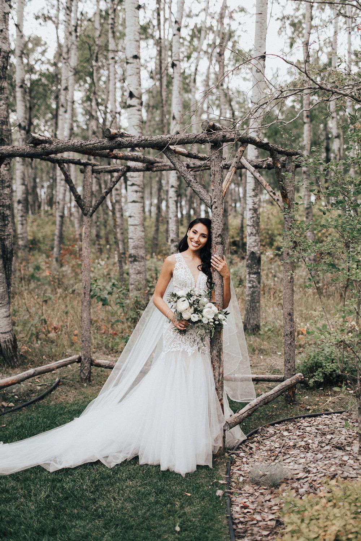 White Bridal Bouquet - Garden Rose Wedding Bouquet