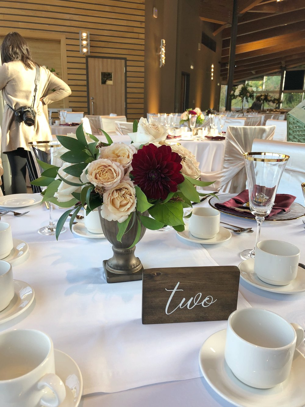 Garden Style Flower Centrepieces - Winnipeg's Best Wedding Florists
