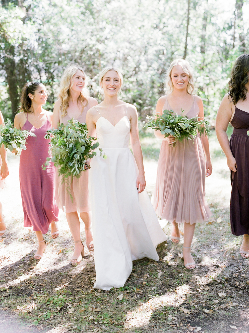 Greenery Bridesmaid Bouquets - Weddings in Winnipeg