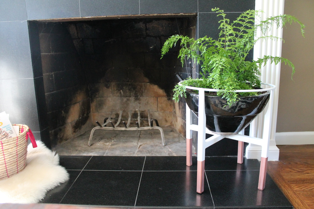 plant-stand-fireplace-copper-legs