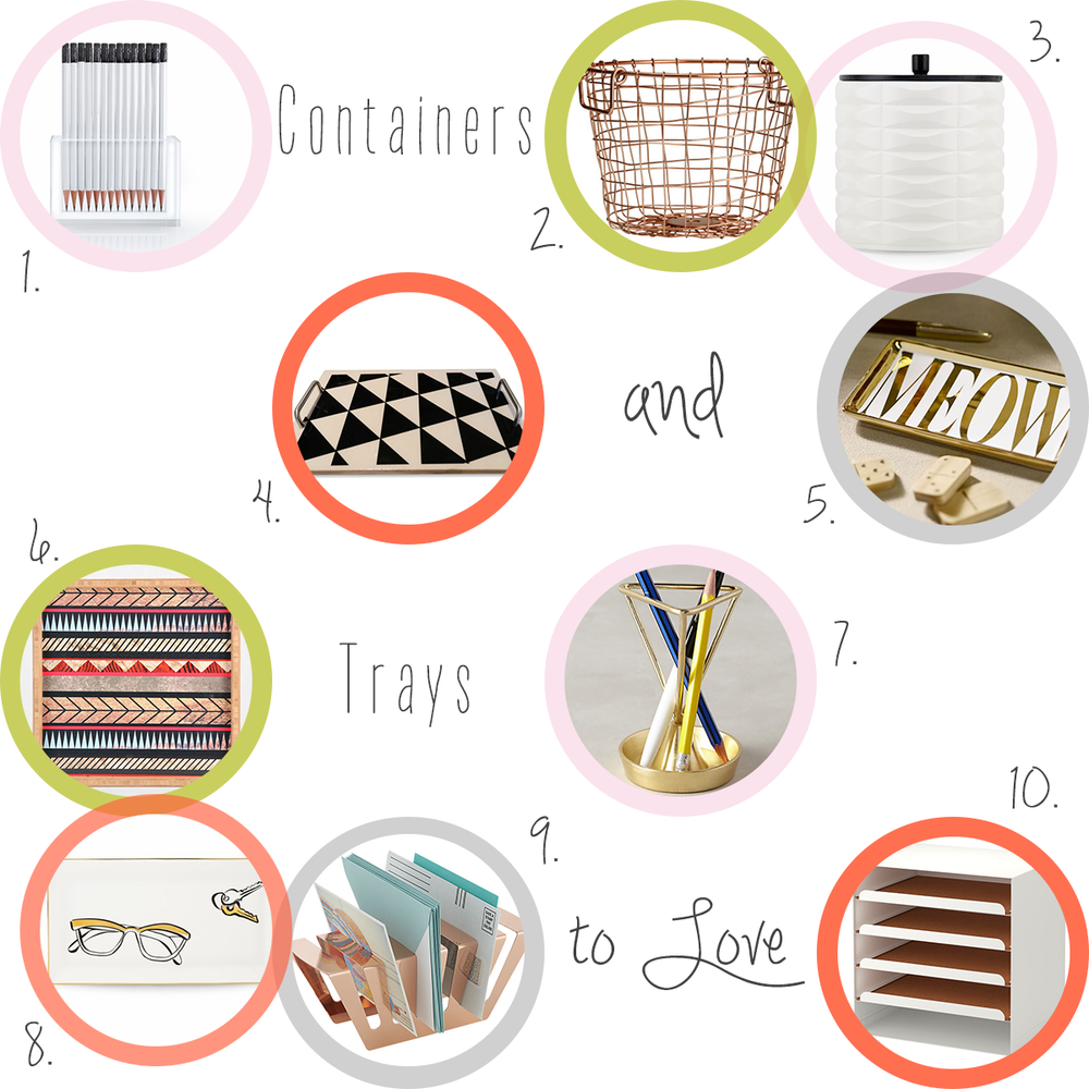 Accessories-every-creative-desk-needs-containers-trays-desk-organization #everydayenthusiastic