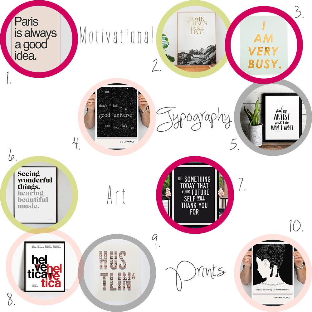 Accessories-every-creative-desk-needs-motivational-typography-art-prints-office #everydayenthusiastic