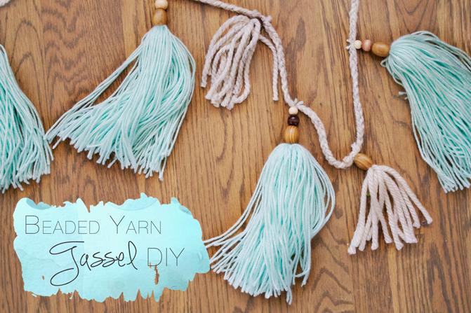 beaded-yarn-tassel-diy
