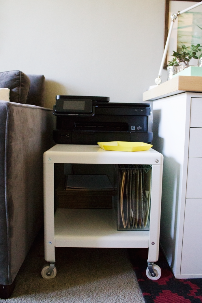 at-home-work-station-desk-styling-ikea-coffee-table-to-printer-cart