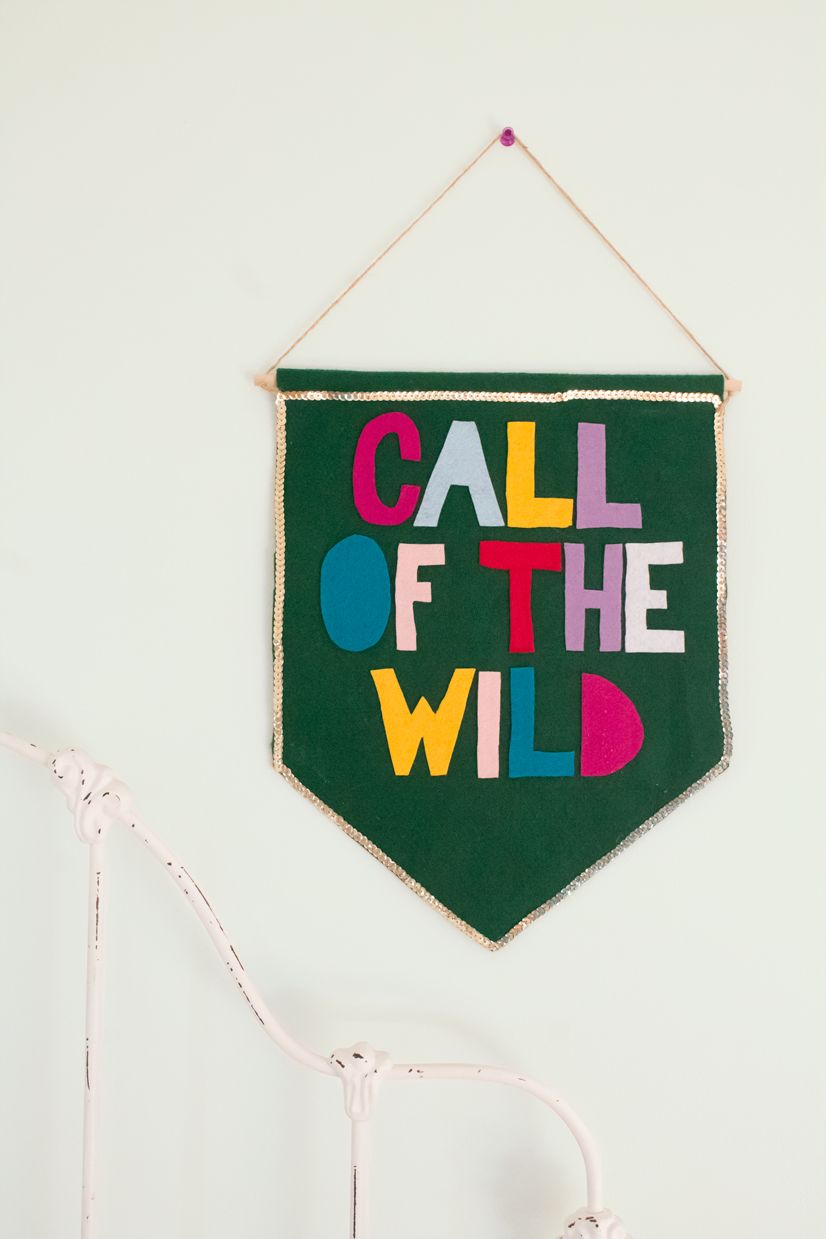 no-sew-felt-wall-banner-diy-call-of-the-wild-felt-wood