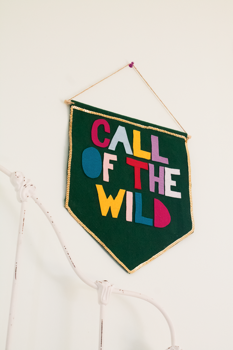 no-sew-felt-wall-banner-diy-call-of-the-wild-multi-colored