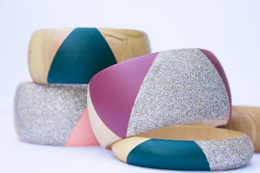 color-blocked-wooden-bangles-diy-glitter
