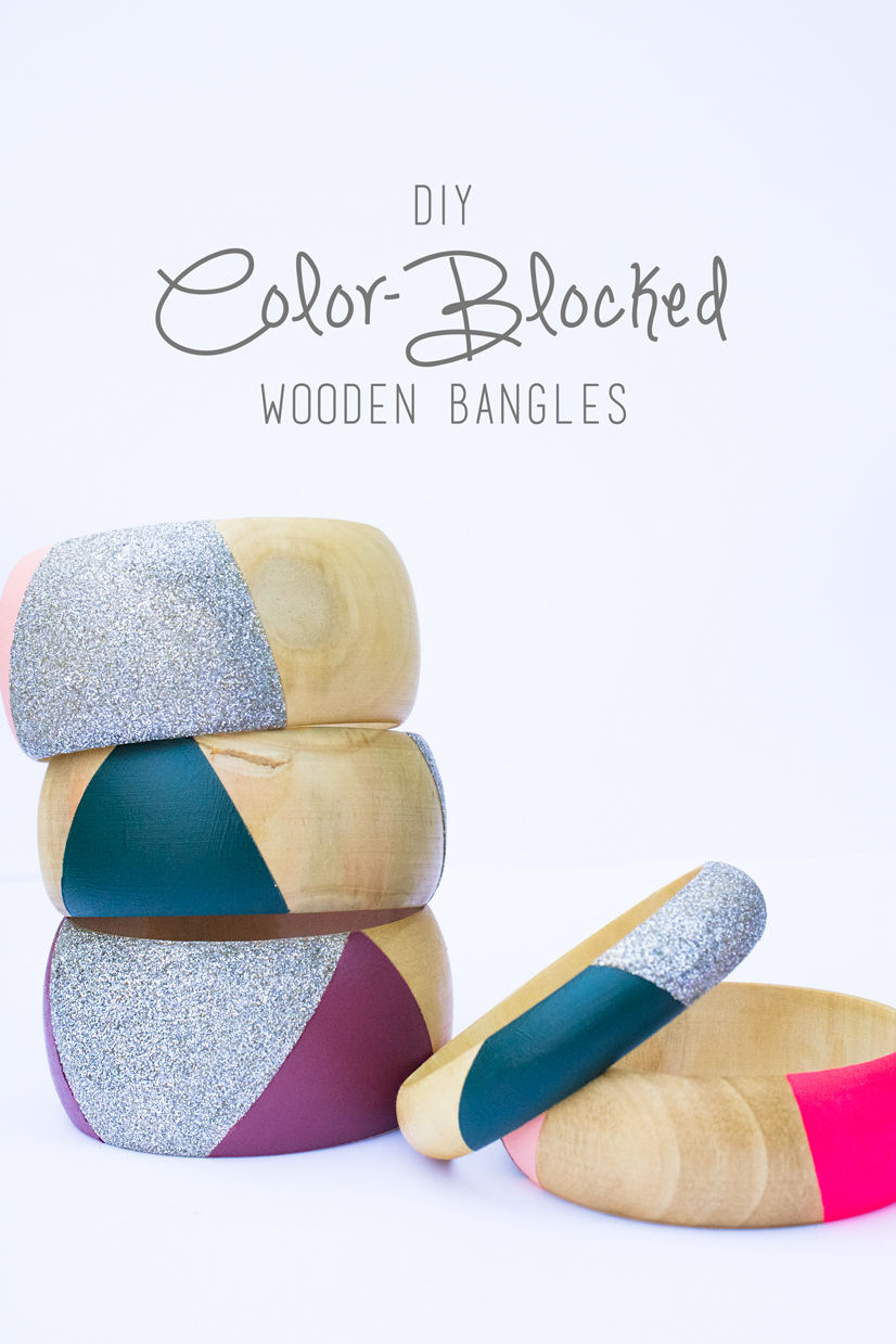 Color-Blocked Bangle DIY