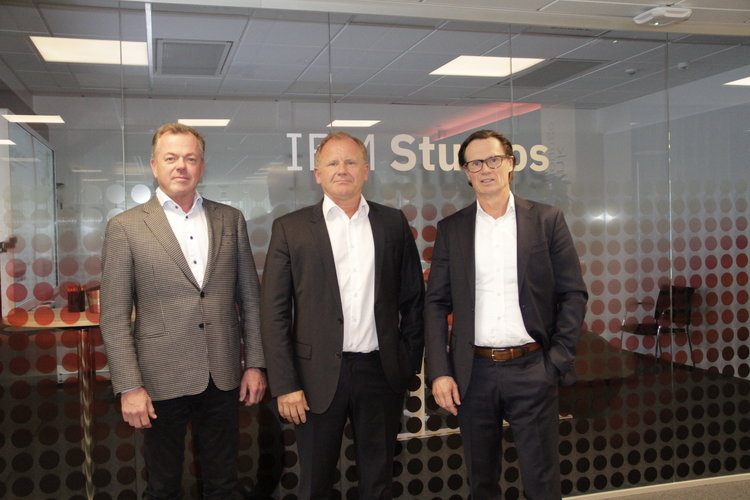 From Left: Pierre Strandelin, CEO Rg19/LOAD, Fredrik Karlsson, CEO Pentech Ltd, Johan Rittner CEO IBM Sweden