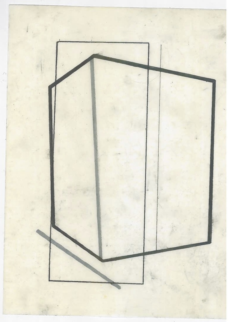 Architecture in transit (the city, observations 24A)  Pencil on oiled fabriano paper  140mm x 180mm  December 2013