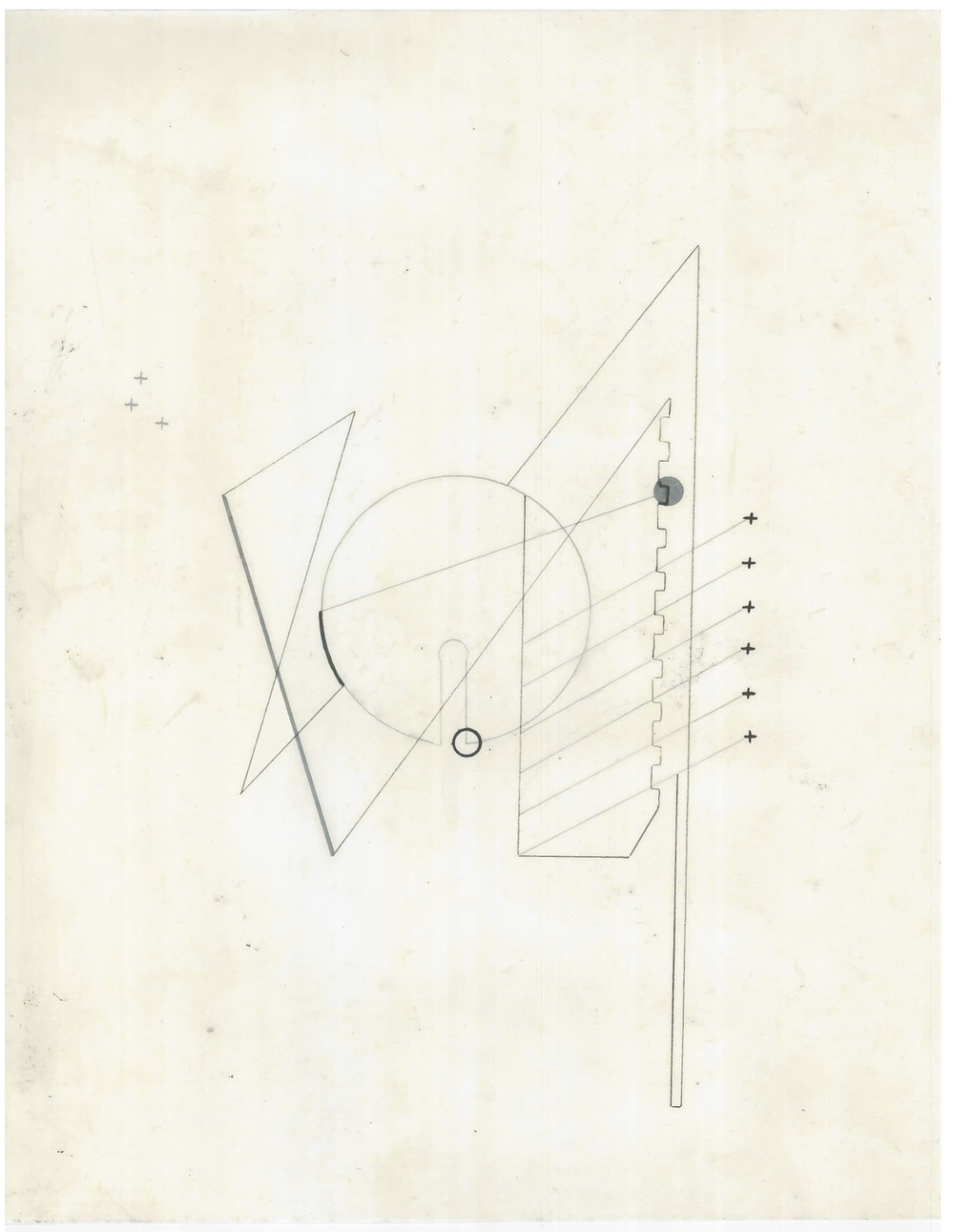 Untitled (the city, observations 21A)  Pencil on oiled fabriano paper  279mm x 216mm  December 2013