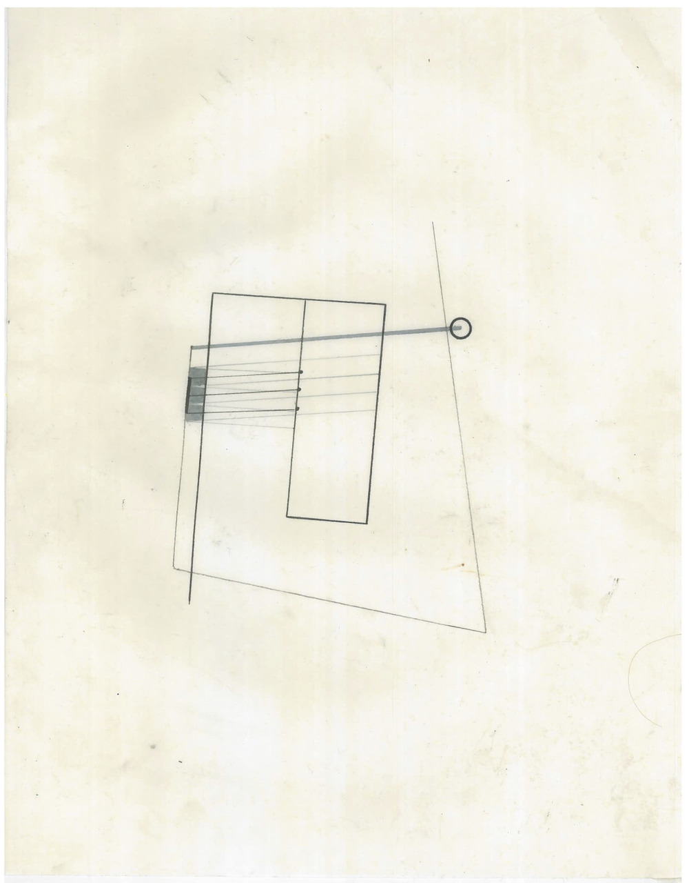 Untitled (the city, observations 17B)  Pencil on oiled fabriano paper  279mm x 216mm  December 2013