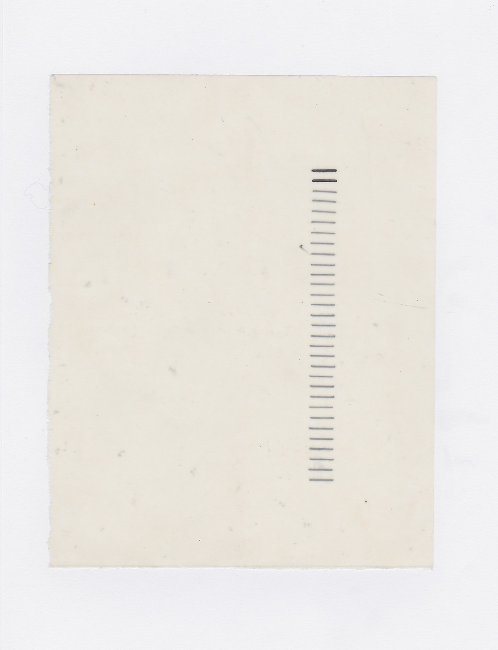 Untitled (the city, observations 16A)  Pencil on layered(x2) oiled fabriano paper.  140mm x 180mm  December 2013