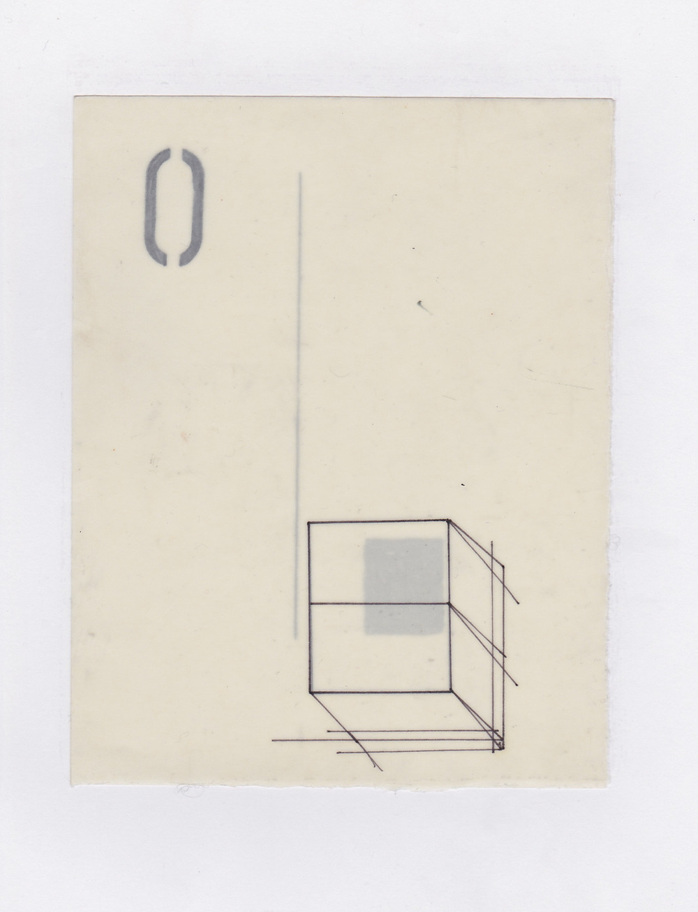 Untitled (the city, observations 12)  Pencil on layered(x2) oiled fabriano paper.  140mm x 180mm  December 2013.