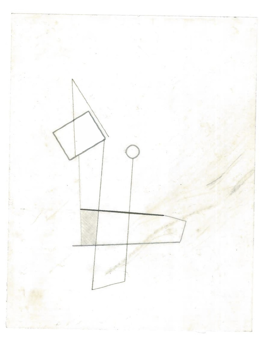 Sequential Architecture (the city, observations 34A)  Pencil on oiled fabriano paper  140mm x 180mm  NY, December 2013