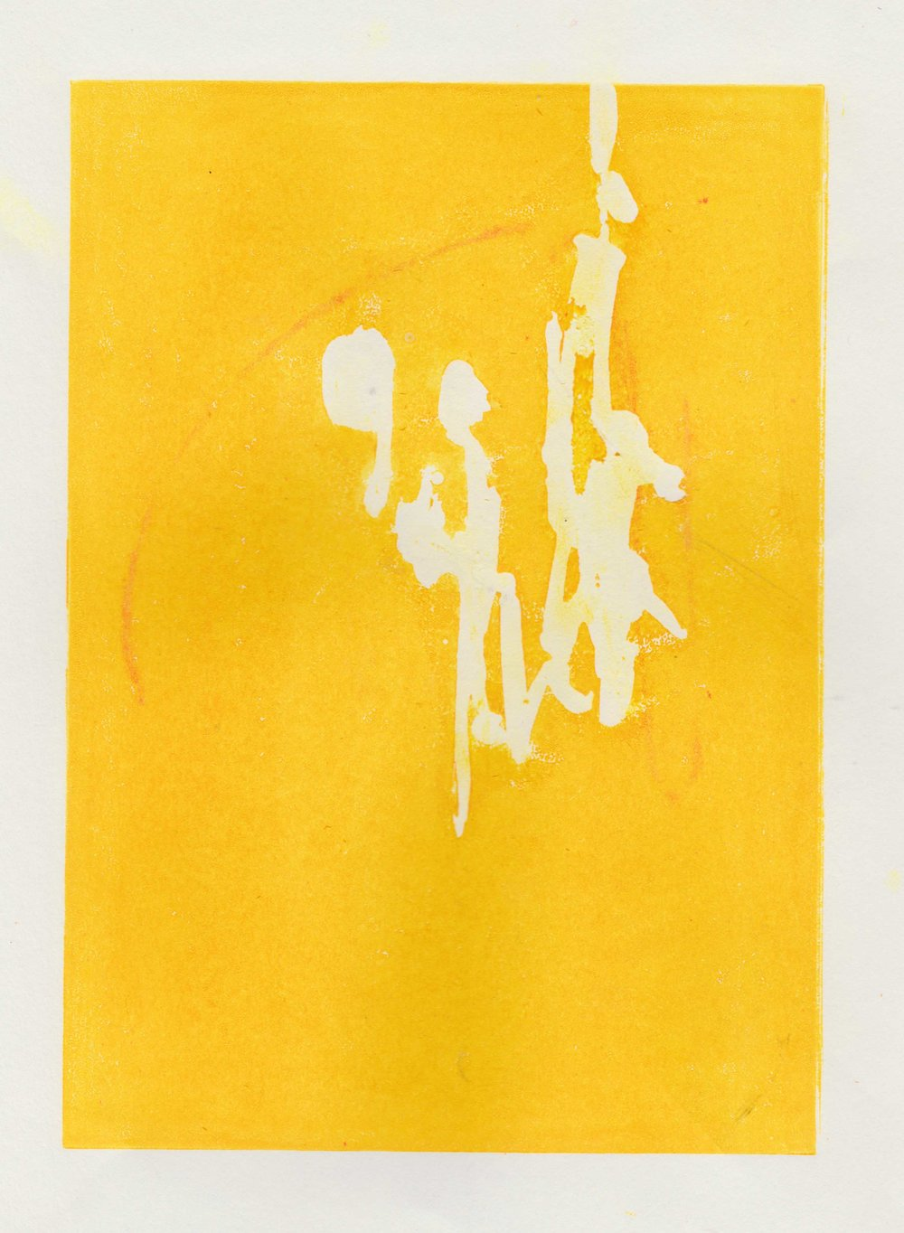 (Yellow Thursday) Lion print with masking fluid on paper // March 2018